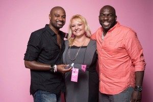 Omar Dorsey supports the Breast Cancer Society