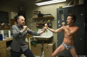"Michael Keaton and Edward Norton in ""Birdman"""