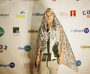 "Aussie actor Harry Hains sports his ""Lawrence of Arabia"" look at HollyShorts."