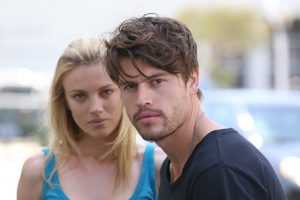 Trafficking recruiters Kara (Bar Paly) and Greg (Will Brandt)(1)